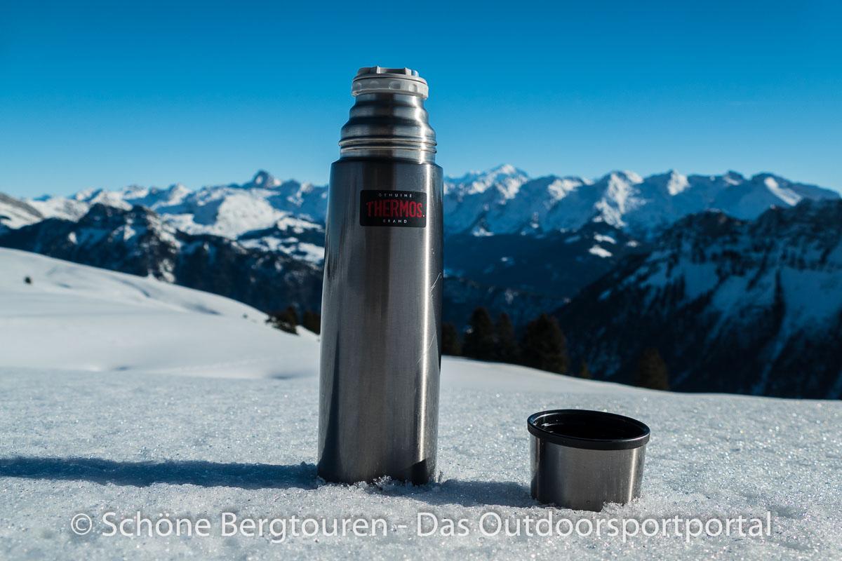 Thermos Edelstahl-Thermosflasche 1,0 l leicht und kompakt