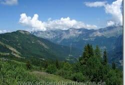 Blick von der Bergstation Bellevue