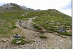 Der weitere Weg zum Col des Fours