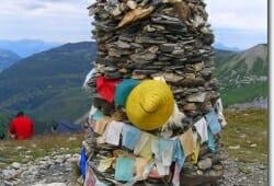 Das Monument oberhalb des Refuge du Col de la Croix du Bonhomme