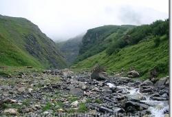 Flussbett des Rau du Gran Paz