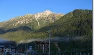 Blick auf den Le Brevent oberhalb von Chamonix