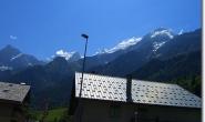 Mont Blanc Massiv oberhalb von Les Houches