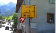 Strassenschild in Les Houches