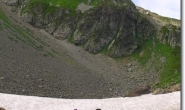 Altschneefeld unterm Col du Bonhomme