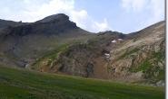 Rueckblick hoch zum Col des Fours