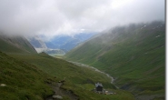 Oberhalb von Alp sup de la Lée Blanche