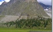 Oberhalb des Lac de Combal liegt der Lac du Miage