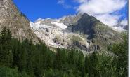 Blick auf den Glacier de la Brenva