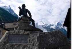 Statue von Michel-Gabriel Paccard in Chamonix