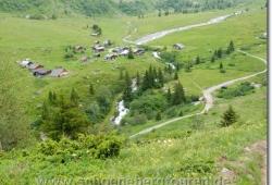 Rückblick auf Refuge et Village de Miage