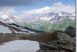 Blick zum Col de la Seigne