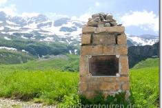 Gedenkstein der Chalets de Jovet