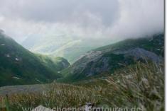Ausblick vom Col de la Croix du Bonhomme