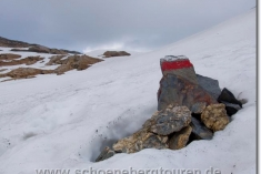 Altschneefeld am Col des Fours