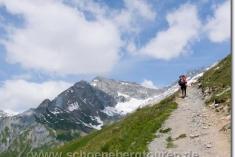 Anstieg zum Col de la Seigne