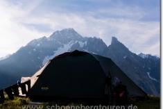 Unser Zelt mit bester Logenaussicht