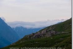 Wolken von der Schweizer Seite