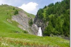 Wasserfälle am Chalet Val Ferret