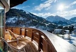 Travel Charme Ifen Hotel - Ausblick vom Balkon im Winter