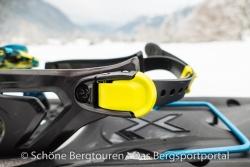 Tubbs Flex VRT XL - Verschluss des Fersenriemensystem