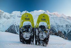 Tubbs Flex VRT XL - Blick zum Mont Blanc