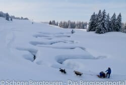 Filmdreh in schoener Winterlandschaft