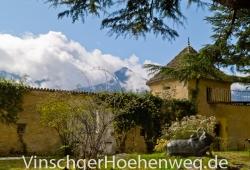 Innenhof des Schloss Juval