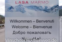 Schild der Lasa Marmo AG