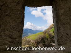 Blick aus dem Schloss Juval