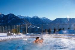 Wellness-Residenz Schalber - Solebecken auf 1400m im Winter
