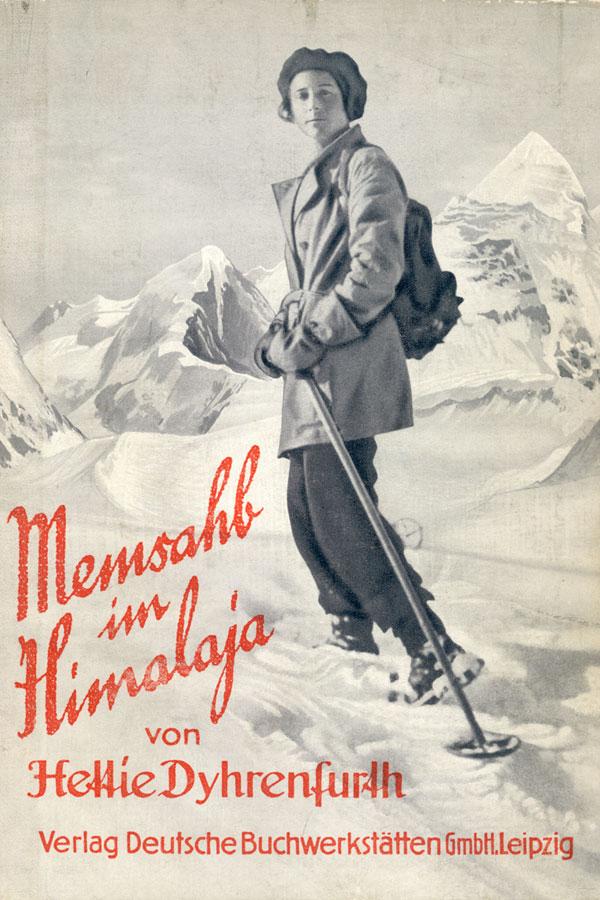 1930 - Buchcover von Mensch am Himalaya von Hettie Dyhrenfurth