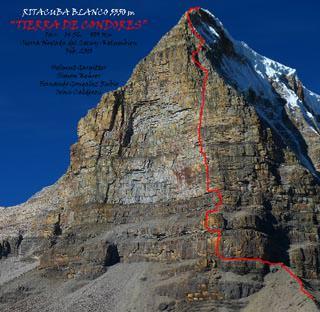 Südostwand des Ritacuba (5355m Höhe).