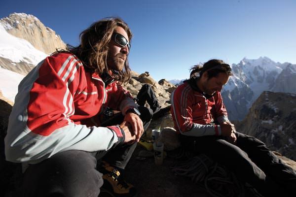 Thomas und Alexander am Lager auf der Sonnenterrasse