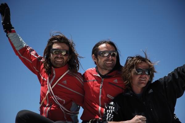 Thomas, Alexander und Mario auf dem Gipfel des Nameless Tower
