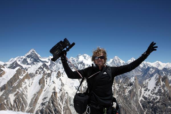 Franz und seine Kamera auf dem Gipfel