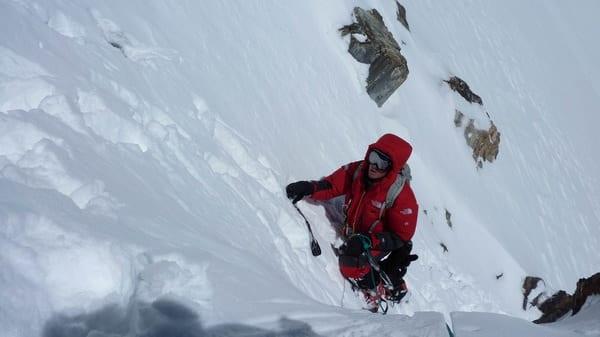 David Goettler am K2 auf 8200m