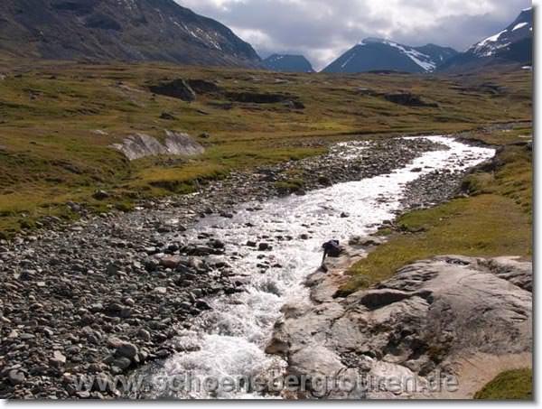 Fluß im Kungsleden