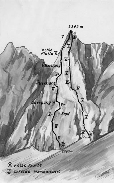 Lamsenhuettenturm Route