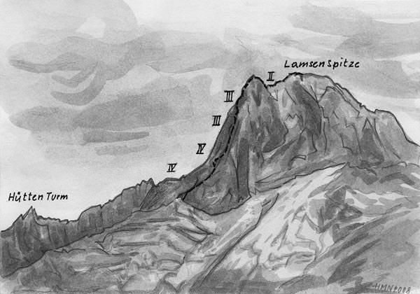 Routenuebersicht - Lamsenspitze