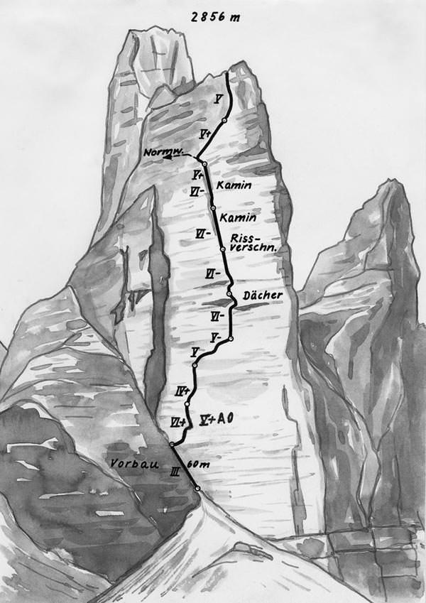 Kleine Zinne - Suedwestwand