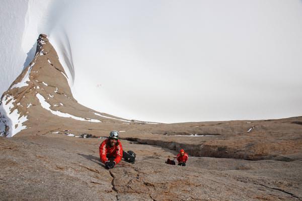 Beginnend ab einer bestimmten Höhe in der Wand, wird im Wind beim Klettern sogar kalt wenn die Sonne scheint