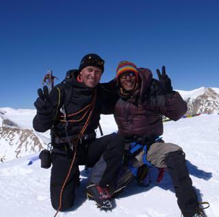 Michael Waerthl Am Saribung Gipfel 6328m mit Sarki Sherpa