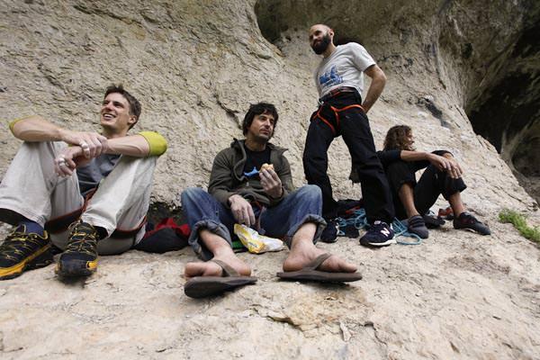 Jorg, Gerhard, Markus und Stefan in der Baerenschlucht