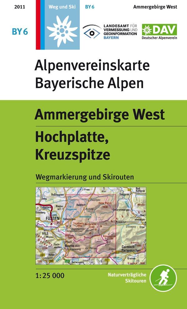 Alpenvereinskarte Bayerische Alpen BY6