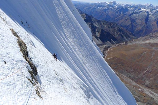 Dave Turnbull im Gipfel Eisfeld