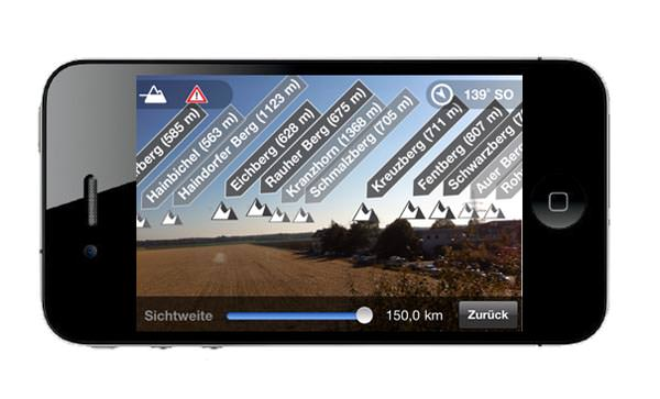 Ortovox Bergtouren App - Gipfelfinder