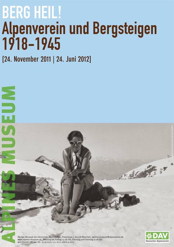 Berg Heil - Plakat zur Ausstellung im Alpinen Museum