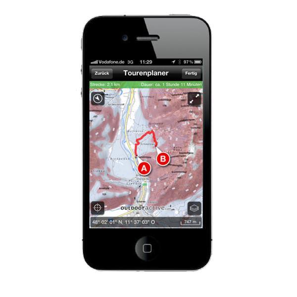 Ortovox Bergtouren App - Tourenplaner