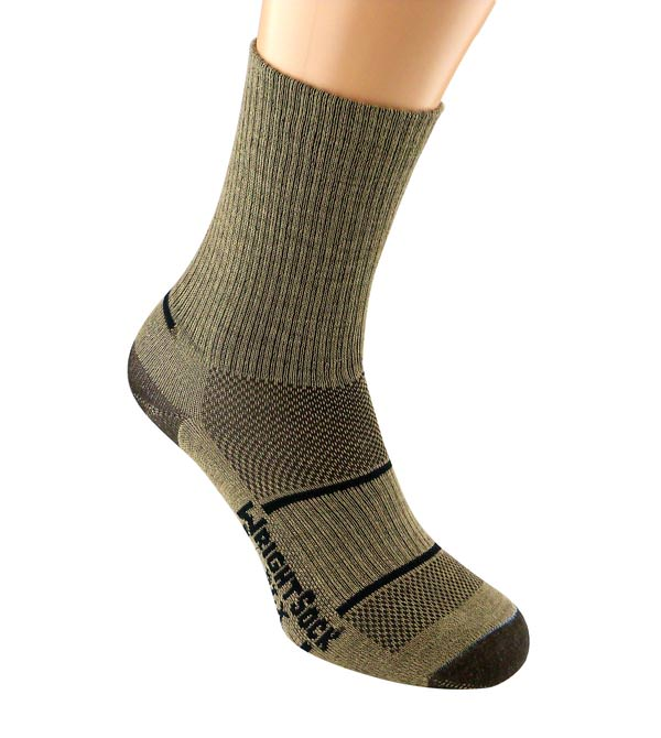 Wrightsock DLX - Brown-Crew